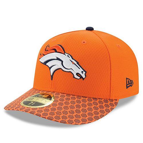 Men's New Era Orange Denver Broncos 2017 Sideline Official Low Profile 59FIFTY Fitted Hat