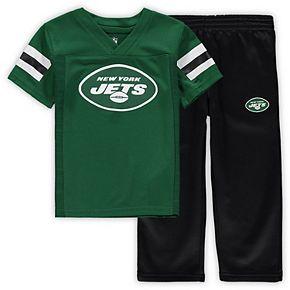 Toddler Green/Black New York Jets Training Camp Team Pants & T-Shirt Set