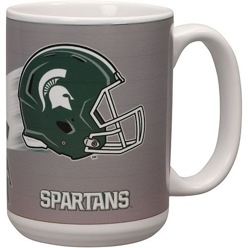 Michigan State Spartans 15oz. Team 3D Graphic Mug