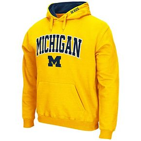 Men's Colosseum Maize Michigan Wolverines Arch & Logo Pullover Hoodie
