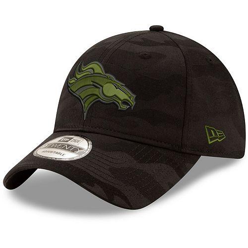 Men's New Era Black Denver Broncos Camo Royale 9TWENTY Adjustable Hat
