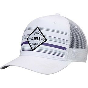 Men's Top of the World White LSU Tigers 36th Ave Trucker Adjustable Hat