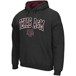 Men's Colosseum Charcoal Texas A&M Aggies Arch & Logo Tackle Twill Pullover Hoodie