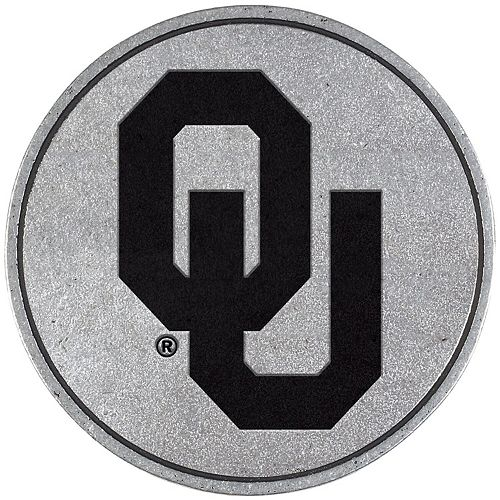 Oklahoma Sooners Standard Pewter Hitch Cover