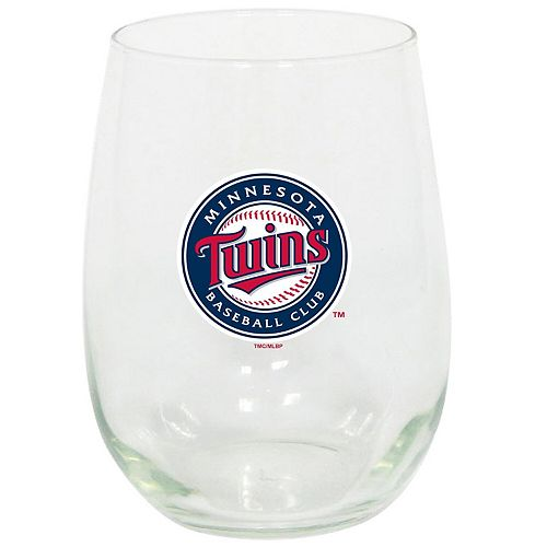 Minnesota Twins 15oz. Stemless Wine Glass