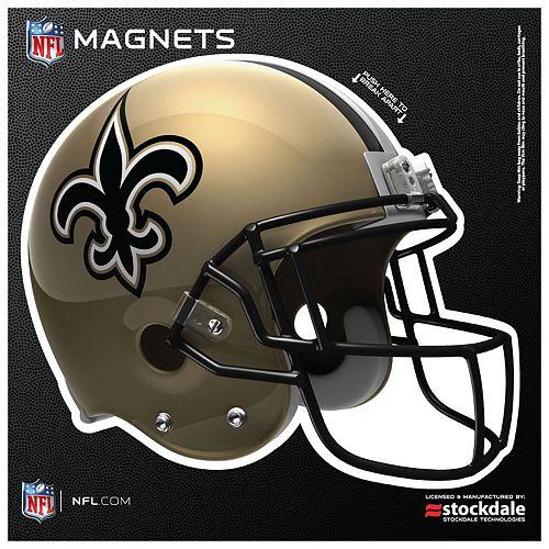 """New Orleans Saints 12"""" x 12"""" Helmet Car Magnet"""
