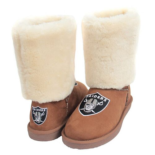 Women's Cuce Tan Oakland Raiders Fan Boot