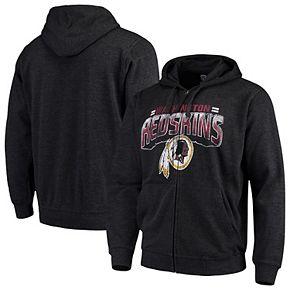Men's G-III Sports by Carl Banks Charcoal Washington Redskins Perfect Season Full-Zip Hoodie