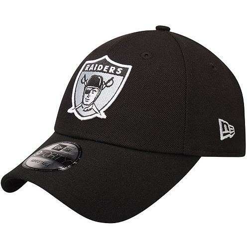 Men's New Era Black Oakland Raiders The League Throwback 9FORTY Adjustable Hat