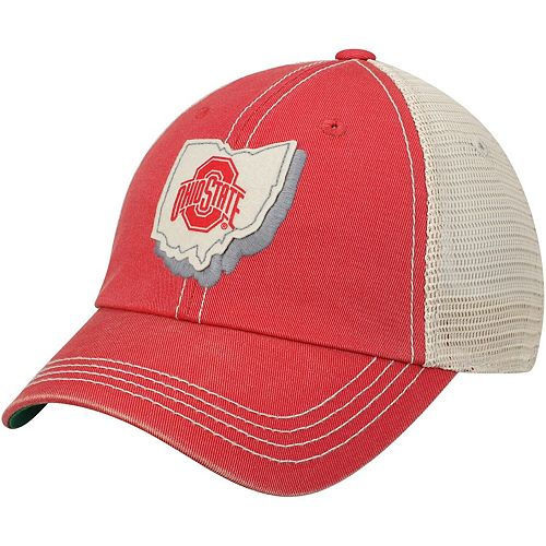 Youth Top of the World Scarlet Ohio State Buckeyes United Trucker Adjustable Hat