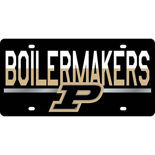 Purdue Boilermakers DuoTone Color Acrylic License Plate