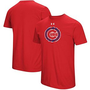 Men's Under Armour Red Chicago Cubs Passion Alternate Logo T-Shirt