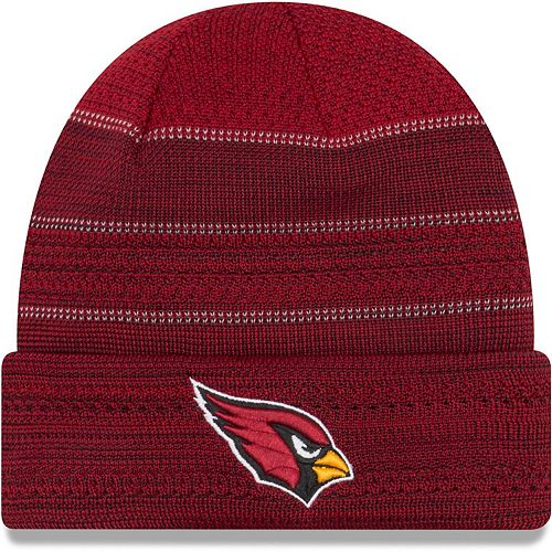 Men's New Era Cardinal Arizona Cardinals 2017 Sideline Official TD Knit Hat