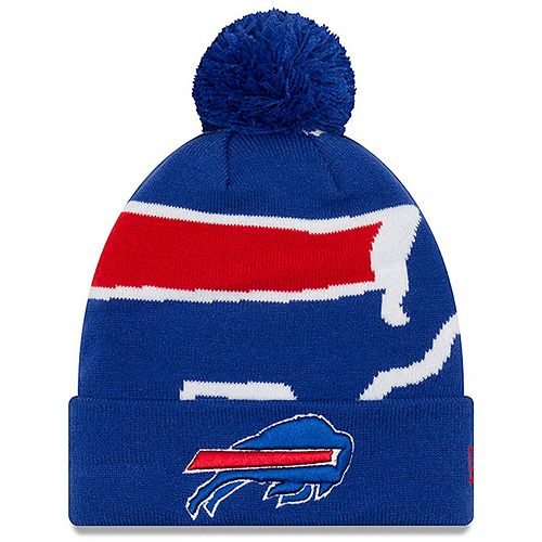 Youth New Era Royal Buffalo Bills Logo Whiz 3 Cuffed Knit Hat