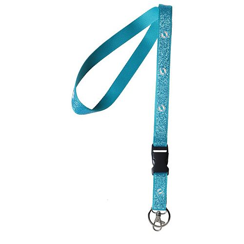 Miami Dolphins Team Color Sparkle Lanyard