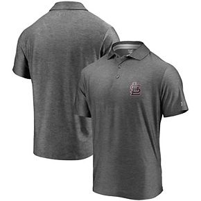 Men's Under Armour Charcoal St. Louis Cardinals Playoff Reflective Logo Performance Polo