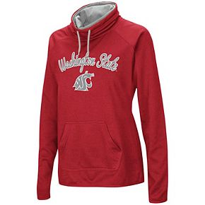 Women's Cardinal Washington State Cougars Funnel Neck Pullover Sweatshirt