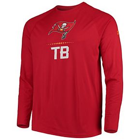 Men's Under Armour Red Tampa Bay Buccaneers Combine Authentic Lockup Performance Long Sleeve T-Shirt