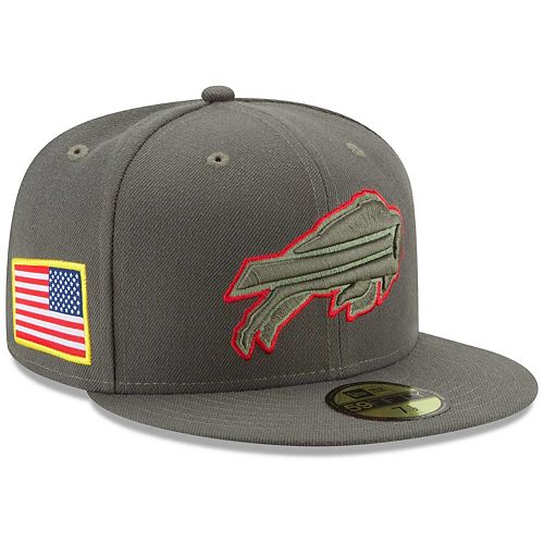 Men's New Era Olive Buffalo Bills 2017 Salute To Service 59FIFTY Fitted Hat