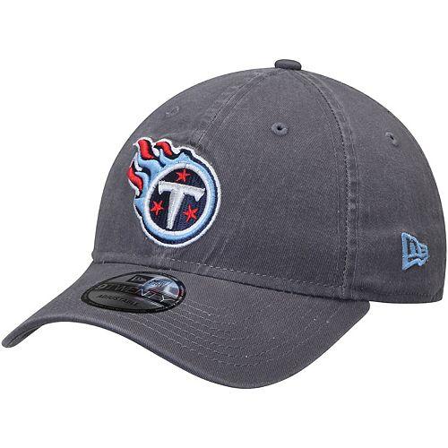 Men's New Era Tennessee Titans Graphite Core Classic Team Logo 9TWENTY Adjustable Hat