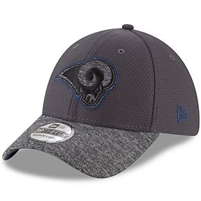 Youth New Era Graphite Los Angeles Rams Popped Shadow 39THIRTY Flex Hat