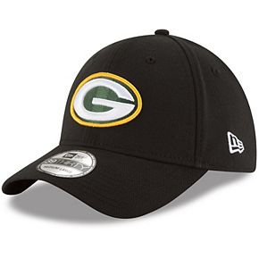 Men's New Era Black Green Bay Packers Team Classic 39THIRTY Flex Hat