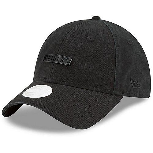 Women's New Era Black Oakland Raiders Team Labeled 9TWENTY Adjustable Hat
