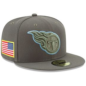 Youth New Era Olive Tennessee Titans 2017 Salute To Service 59FIFTY Fitted Hat