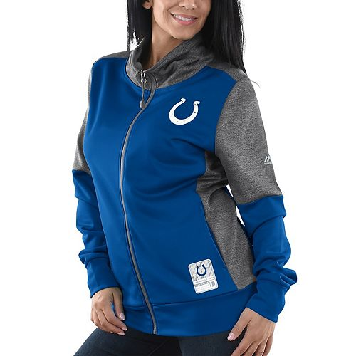 Women's Majestic Royal Indianapolis Colts Speed Fly Lightweight Full-Zip Fleece Jacket