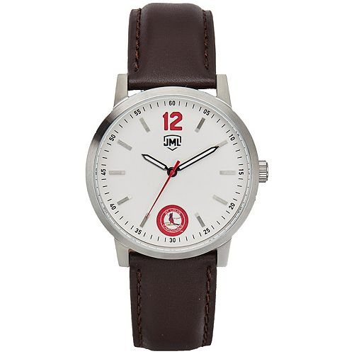 Men's  St. Louis Cardinals Watch With Brown Leather Strap