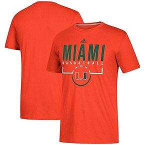 Men's adidas Orange Miami Hurricanes On-Court climalite Basketball T-Shirt