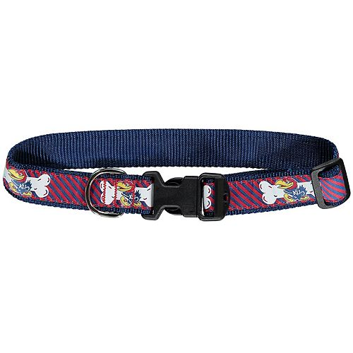 "Royal/Red Kansas Jayhawks Pet 1 1/4"" Collar"