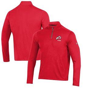 Men's Under Armour Red Utah Utes Threadborne Quarter-Zip Jacket