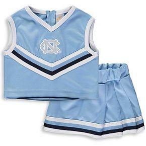Girls Toddler Carolina Blue North Carolina Tar Heels Two-Piece Cheer Set