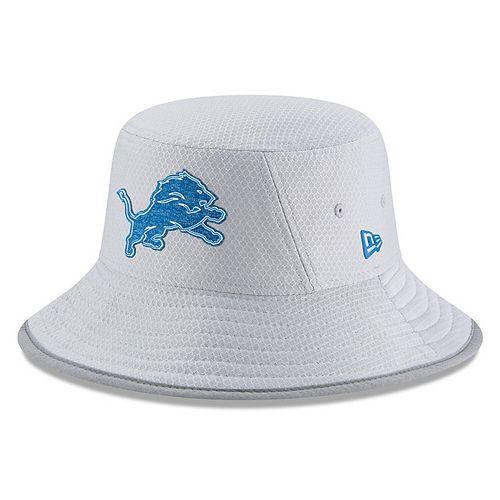 Men's New Era Gray Detroit Lions 2018 Training Camp Official Bucket Hat