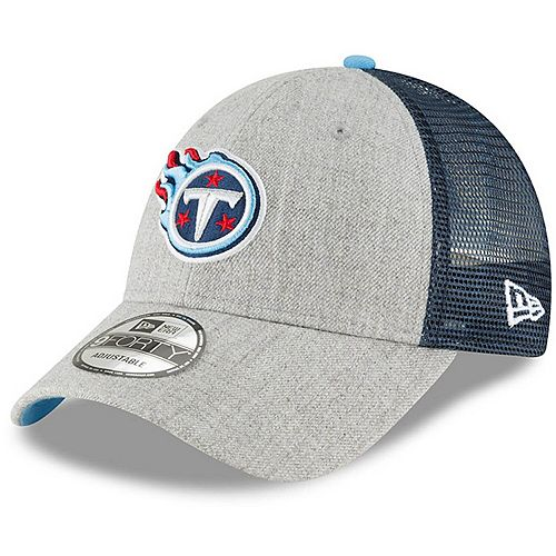 Men's New Era Heathered Gray/Navy Tennessee Titans Turn 9FORTY Adjustable Snapback Hat