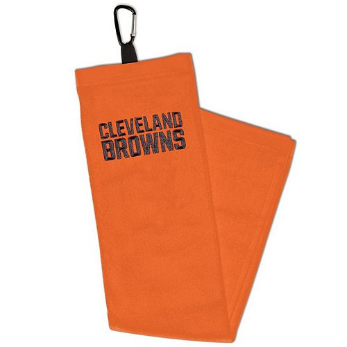 WinCraft Cleveland Browns Embroidered Golf Towel with Carabiner