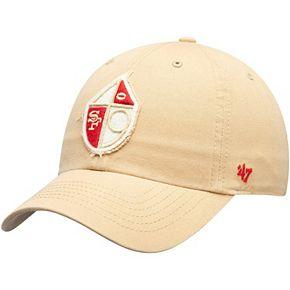 Men's '47 Khaki San Francisco 49ers Wright Throwback Clean Up Adjustable Hat