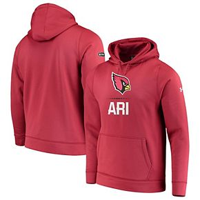 Men's Under Armour Cardinal Arizona Cardinals Combine Authentic Lockup Pullover Hoodie