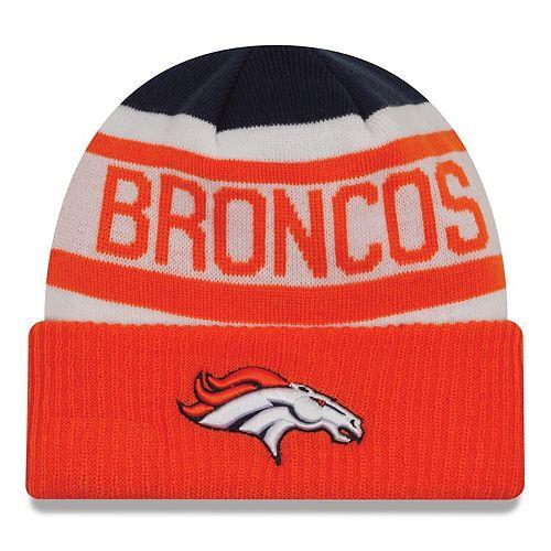 Toddler New Era Navy/Orange Denver Broncos Biggest Fan 2.0 Cuffed Knit Hat