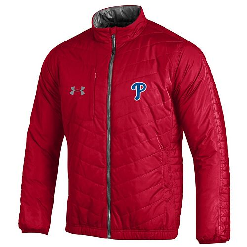 Men's Under Armour Red Philadelphia Phillies Accelerate Full-Zip Jacket