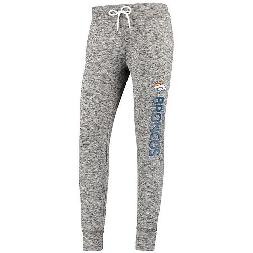 Women's G-III 4Her by Carl Banks Heathered Gray Denver Broncos Sideline Jogger Pant