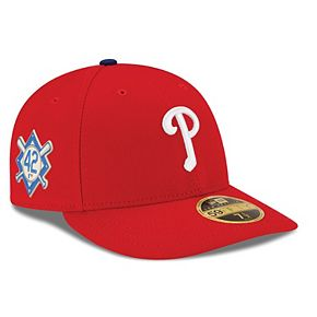 Men's New Era Red Philadelphia Phillies Jackie Robinson Day Low Profile 59FIFTY Fitted Hat