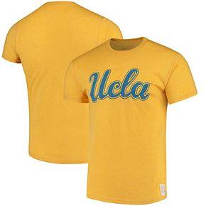 Men's Original Retro Brand Gold UCLA Bruins Script School Logo Mock Twist T-Shirt