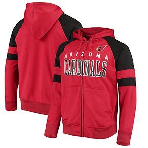 Men's Hands High Cardinal Arizona Cardinals Lifestyle League Full-Zip Hoodie