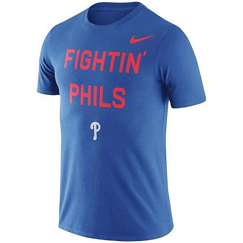 Men's Nike Royal Philadelphia Phillies Local Phrase Performance T-Shirt