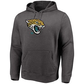 Men's Majestic Heathered Charcoal Jacksonville Jaguars Big & Tall Line of Scrimmage Pullover Hoodie