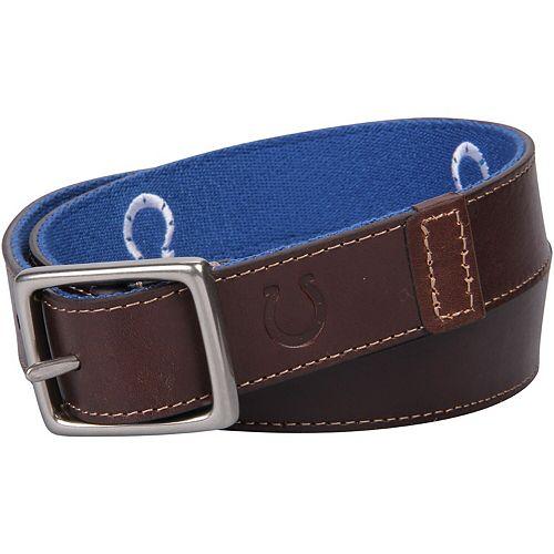 Men's  Indianapolis Colts Reversible Belt
