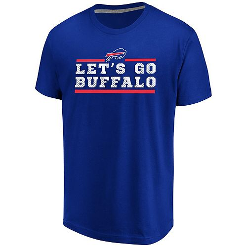 Men's Majestic Royal Buffalo Bills Big & Tall Safety Blitz T-Shirt