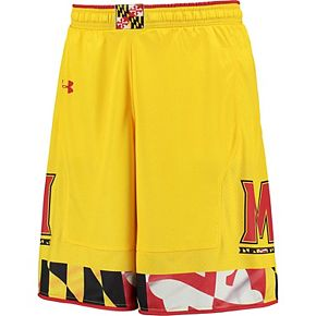 Men's Under Armour Gold Maryland Terrapins Replica Basketball Shorts